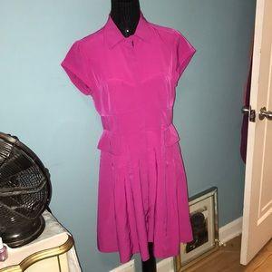 Nanette Lepore gorgeous fuchsia zipper dress